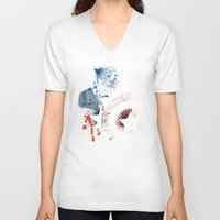soldier V-neck T-shirts featuring The Soldier by Arian Noveir