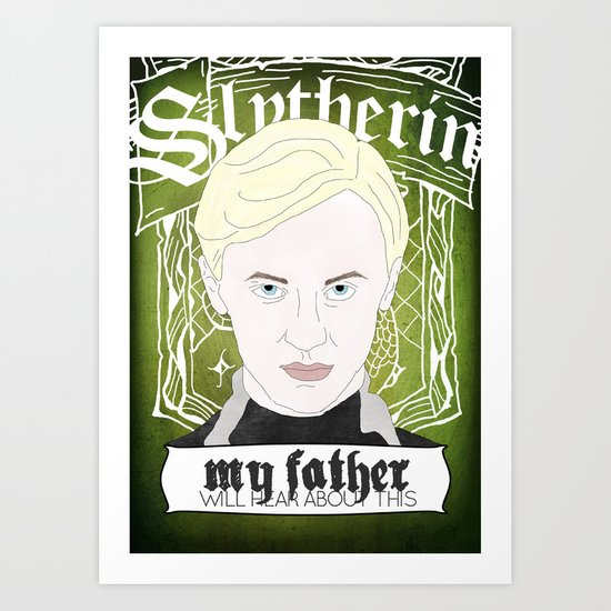 Draco Malfoy from Harry Potter  Art Print