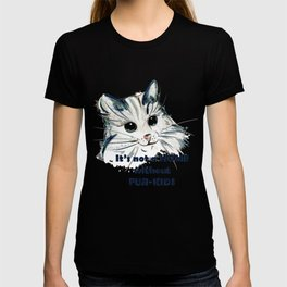 Cat. Conceptial design: it's not a home without fur kids T-shirt