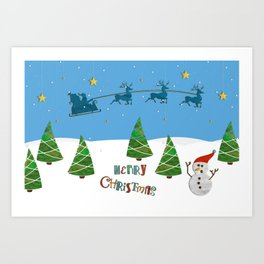 Christmas motif No. 1 Art Print