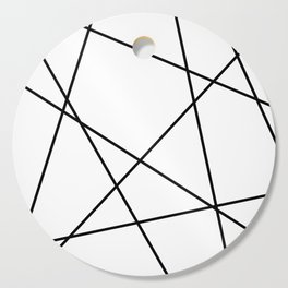 Lines in Chaos II - White Cutting Board