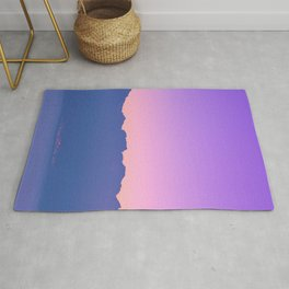 Mountains At Sunset Rug