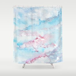 Pink and Blue Clouds . Sky Shower Curtain