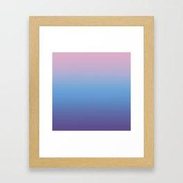 Ombre Pink Blue Ultra Violet Gradient Pattern Framed Art Print