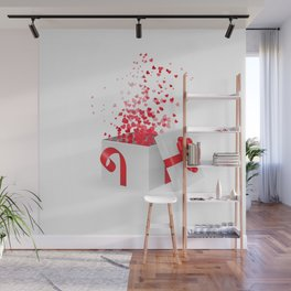 Opening gift box for Valentines day Wall Mural