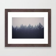 Forest in the Haze Framed Art Print