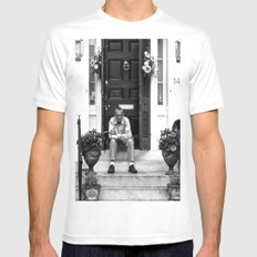 The Captain Needs a Smoke Mens Fitted Tee MEDIUM White