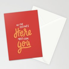 No One Belongs Here More Than You Stationery Cards