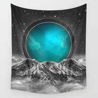 lunar Wall Tapestries featuring Fade Away (Lunar Eclipse) by soaring anchor designs