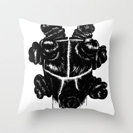 Bantu Knot By Sight Throw Pillow