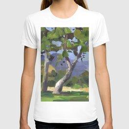 BETTE DAVIS PARK, plein air landscape by Frank-Joseph Paints T-shirt