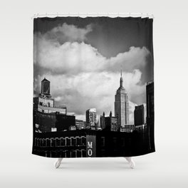 NYC Skyline 2012 (film grain) Shower Curtain