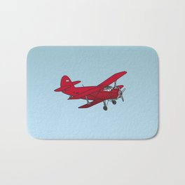 Red biplane Bath Mat