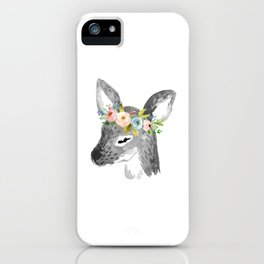 Floral Deer iPhone Case
