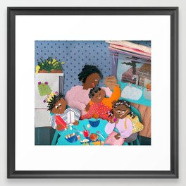 Family Breakfast Framed Art Print
