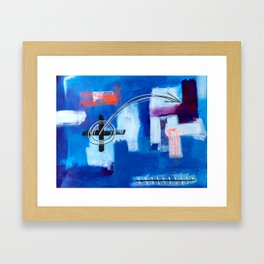 Idealism Under Construction Framed Art Print
