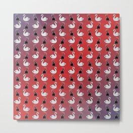 Captain Swan pattern Metal Print