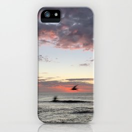 Birds flying by at Bronte Beach, NSW, Australia iPhone Case