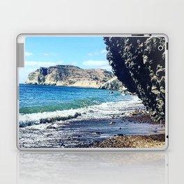 Santorini Cliff Laptop & iPad Skin