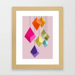 Hanging Ornaments Framed Art Print