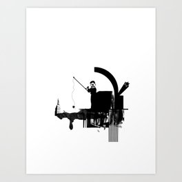 Fishing for Compliments ... Art Print