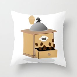 coffee grinder Throw Pillow