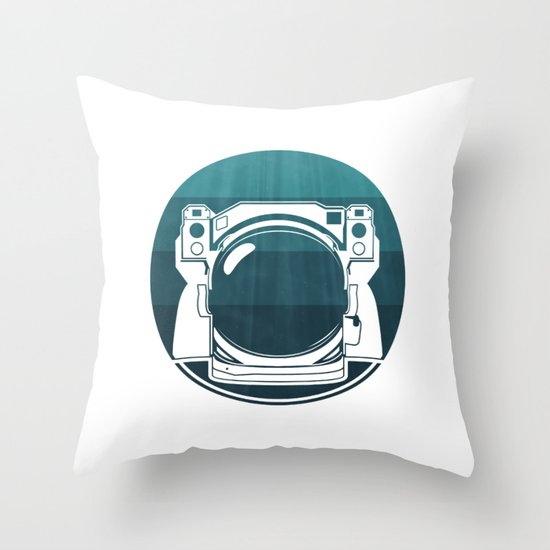 Underwater Astronaut Throw Pillow