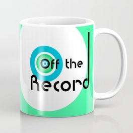 Off the Record - white Coffee Mug