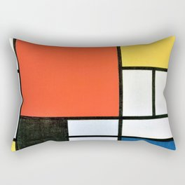 Composition With Red, Yellow, Blue, And Black - Piet Mondrian Rectangular Pillow
