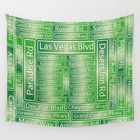 las vegas Wall Tapestries featuring Las Vegas Street Signs by Gravityx9
