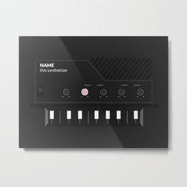 Analog Synth (Monotron) Metal Print