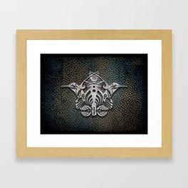 Bassnectar Family Crest (Metal) Framed Art Print