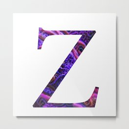 "Initial letter ""Z"" Metal Print"