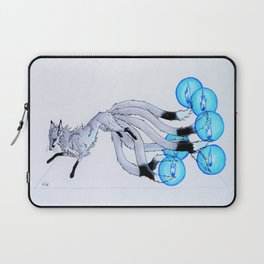 Six-tailed Firefox - blue Laptop Sleeve