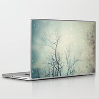 poem Laptop & iPad Skins featuring Winter Poem  by Laura Ruth