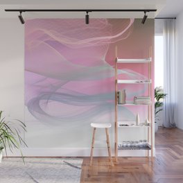 Flow Motion Vibes 1. Pink, Violet and Grey Wall Mural