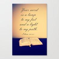 bible Canvas Prints featuring Bible  by Jo Bekah Photography
