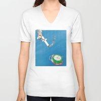 facebook V-neck T-shirts featuring Facebook  by gunberk