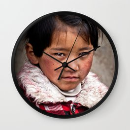 Young Nepalese Girl  Wall Clock