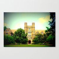 medical Canvas Prints featuring duke medical by Chromatic Reflections