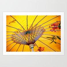Asia Umbrella Art Print
