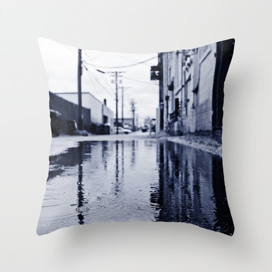 Another rainy day Throw Pillow