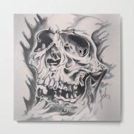 Skull Head Metal Print