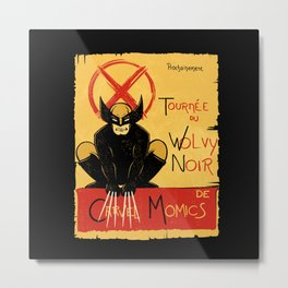 Wolvy the black cat Metal Print