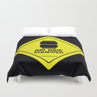 audi Duvet Covers featuring AIR RIDE EQUIPPED by shedpress