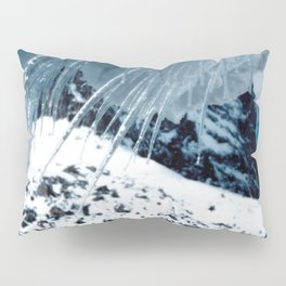 NATURE'S WONDER #1 - Icicles up in the mountains #art #society6 Pillow Sham