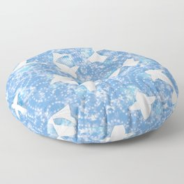Origami Koi Fishes (Sky Pond Version) Floor Pillow