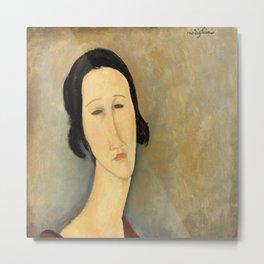 "Amedeo Modigliani ""Madame Hanka Zborowska"" Metal Print"