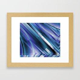 Frozen Circuit Framed Art Print