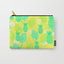 Watermelons and pineapples in yellow Carry-All Pouch
